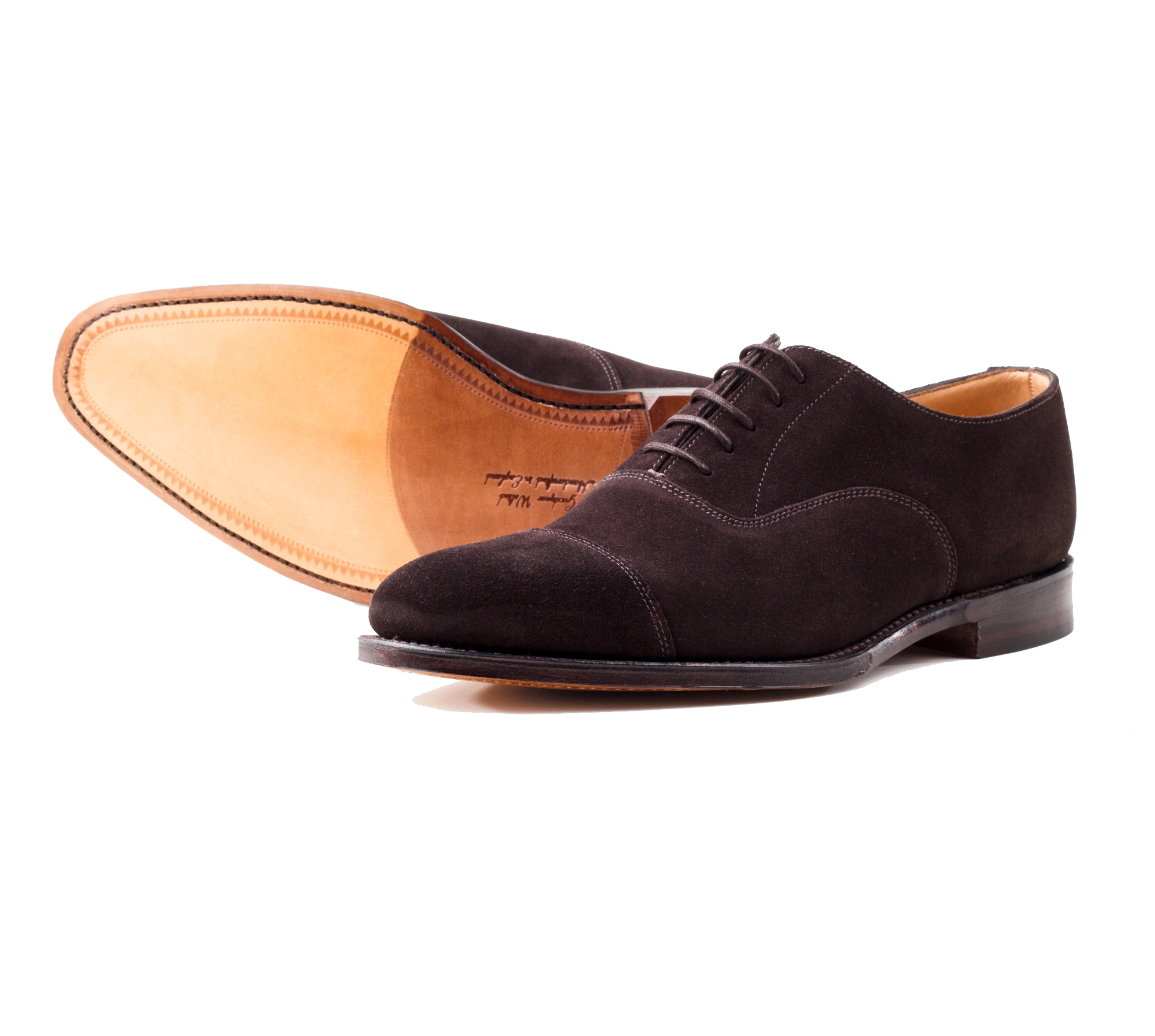 фото Оксфорды Loake, Aldwych Dark Brown suede от магазина MENSHOES