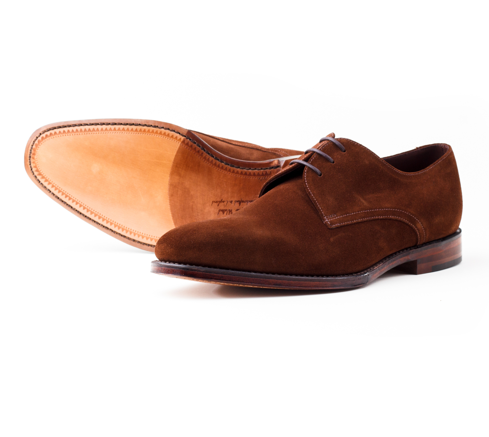 фото Дерби Loake, Downing Brown suede от магазина MENSHOES